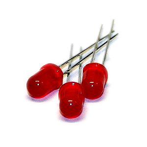Lysdiode rød, 5mm (100 stk.)