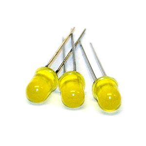 Lysdiode gul, 5mm (100 stk.)