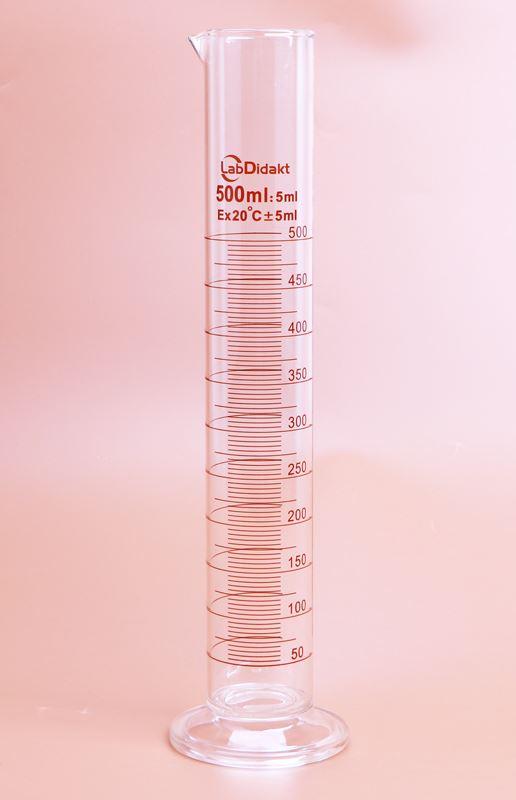 Målecylinder 1000 ml med hældetud