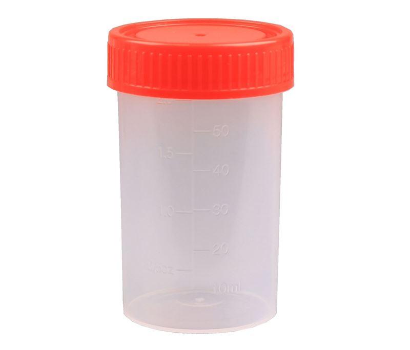Plastboks med skruelåg, 50 ml (100 stk)