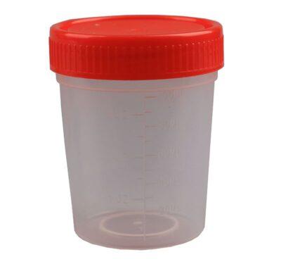 Plastboks med skruelåg, 100 ml (100 stk)