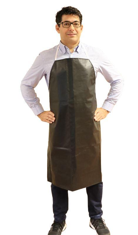 Beskyttelsesforklæde, sort PVC