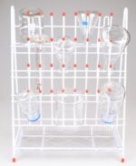 Tørrestativ til reagensglas og kolber